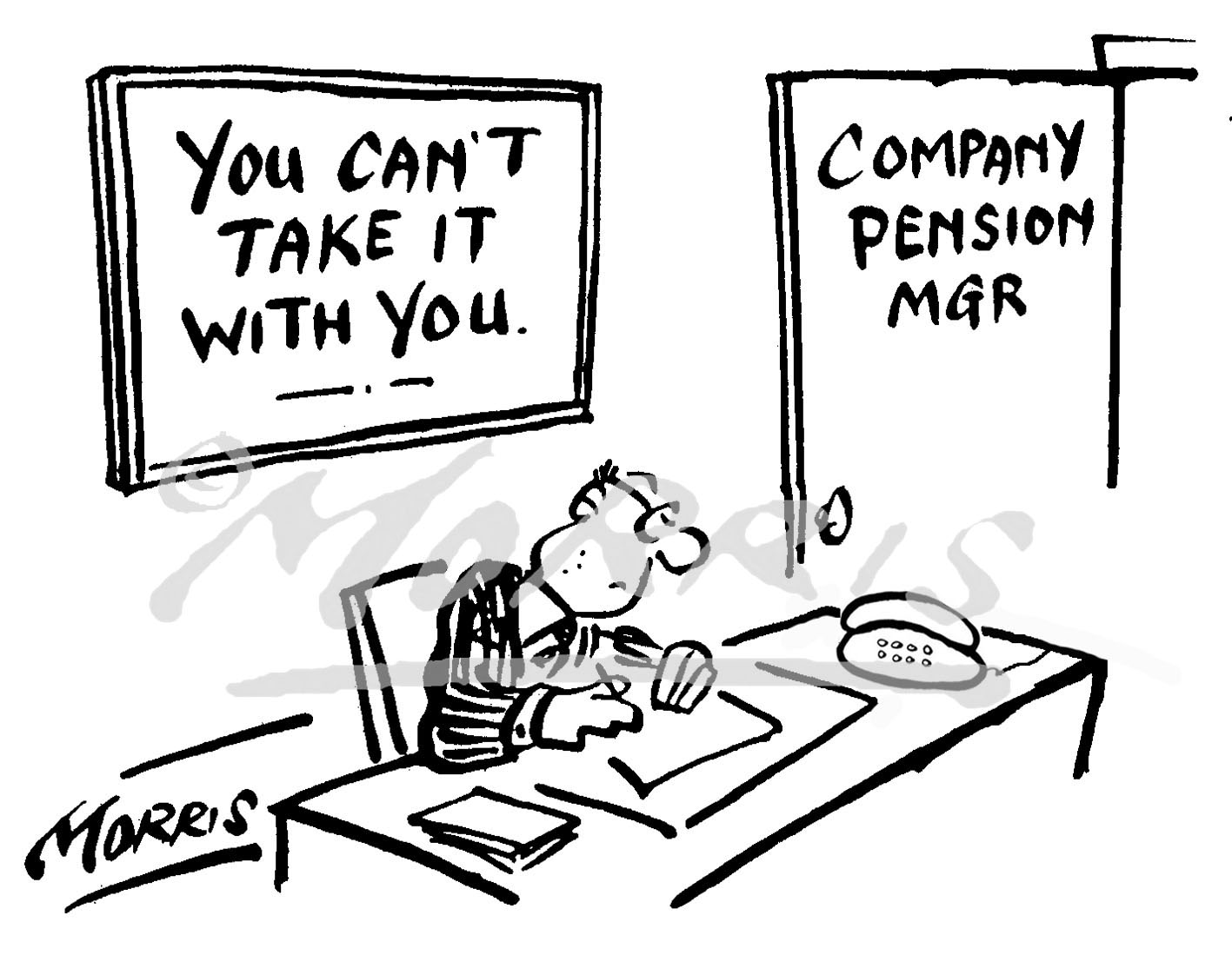 Pension manager cartoon – Ref: 4360bw