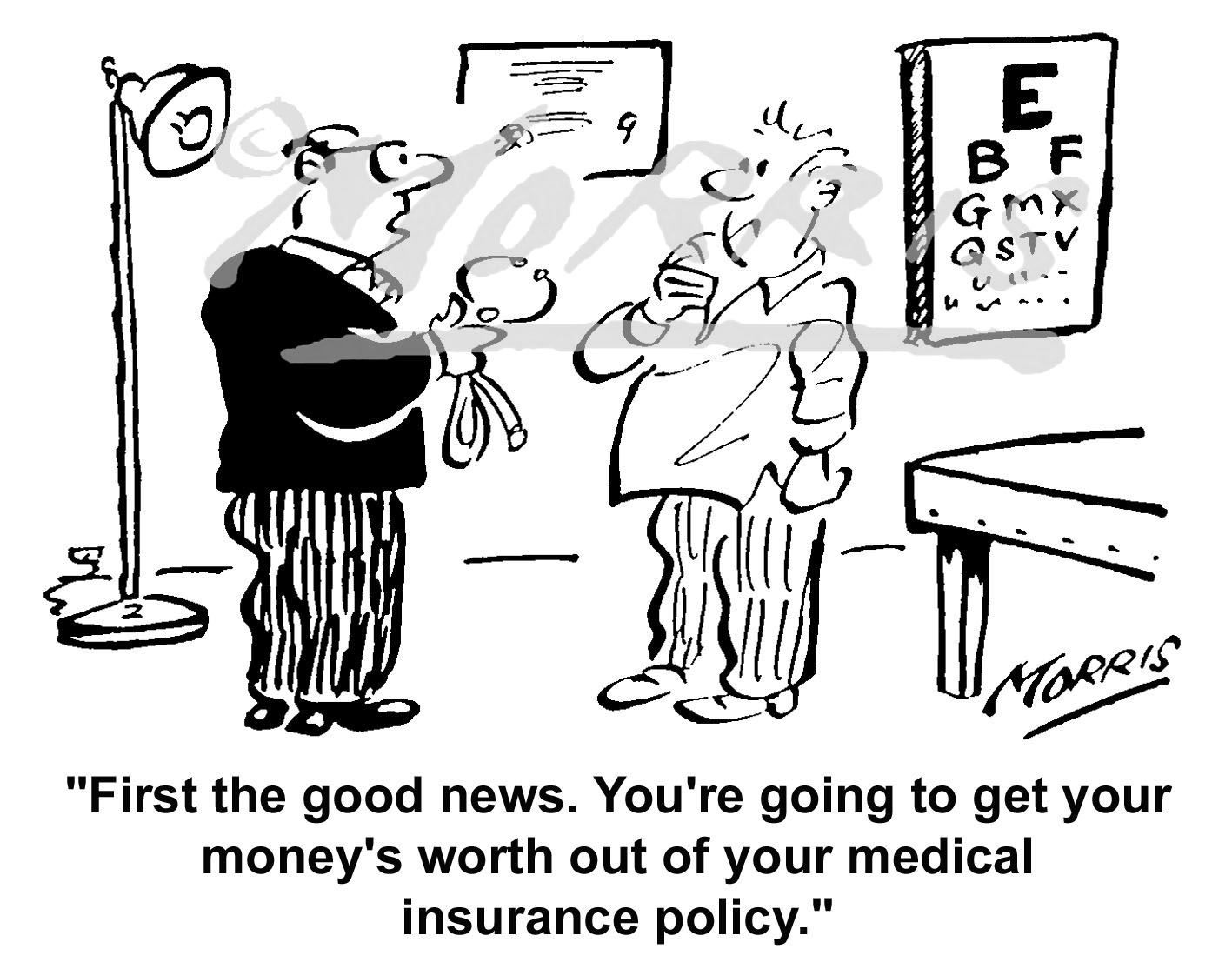 Medical insurance policy cartoon Ref: 4524bw