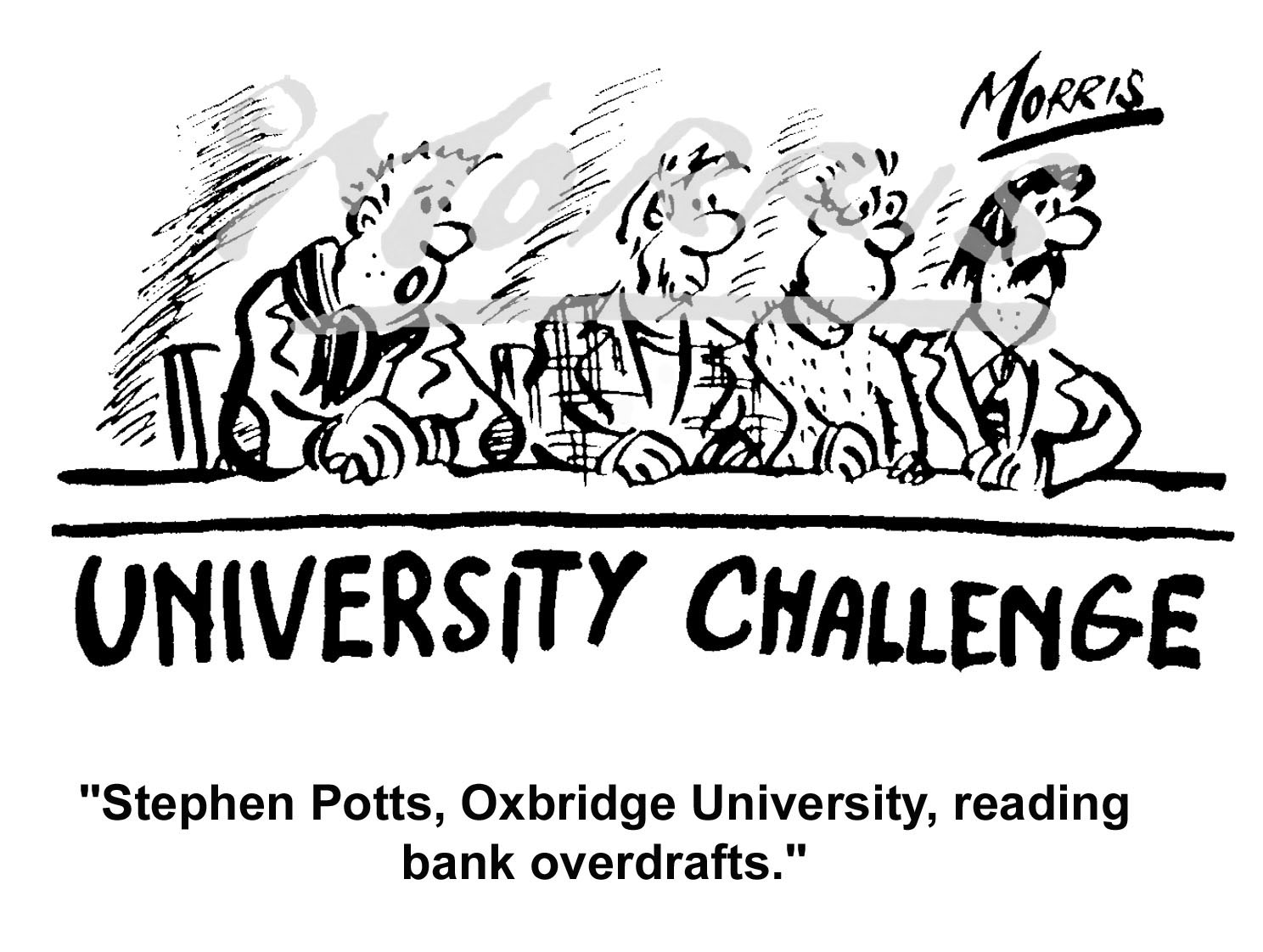 Bank overdraft cartoon Ref: 4549bw