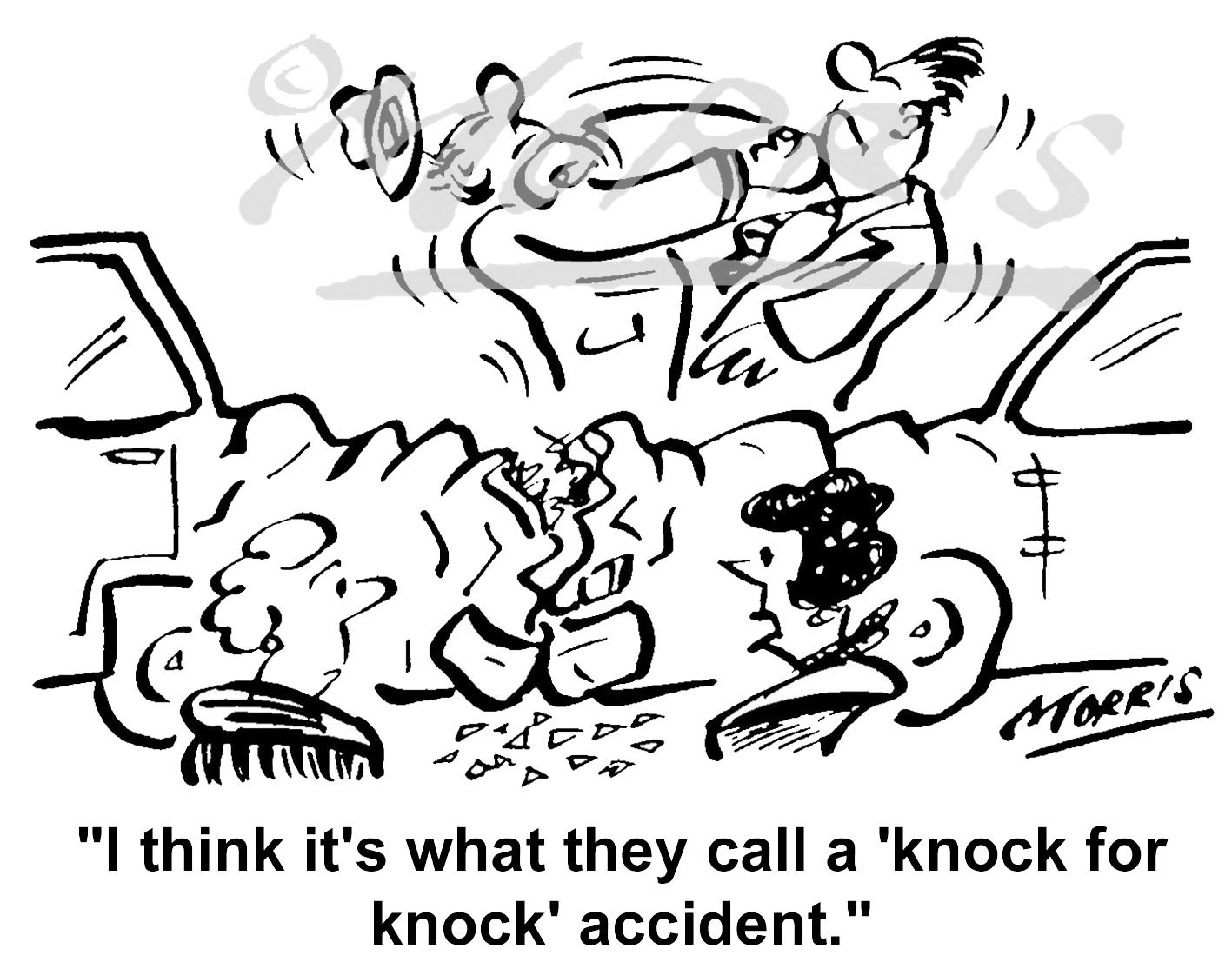 Car / Motor vehicle insurance cartoon – Ref: 4561bw
