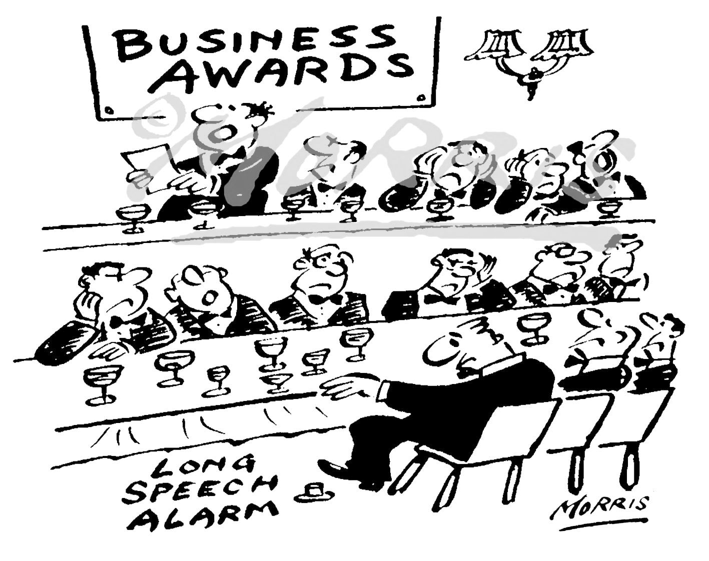 Business Awards cartoon Ref: 4578bw