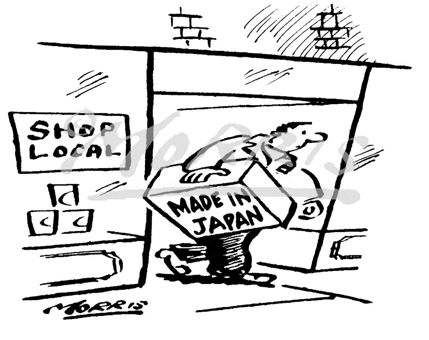 Retail shop cartoon Ref: 4612bw