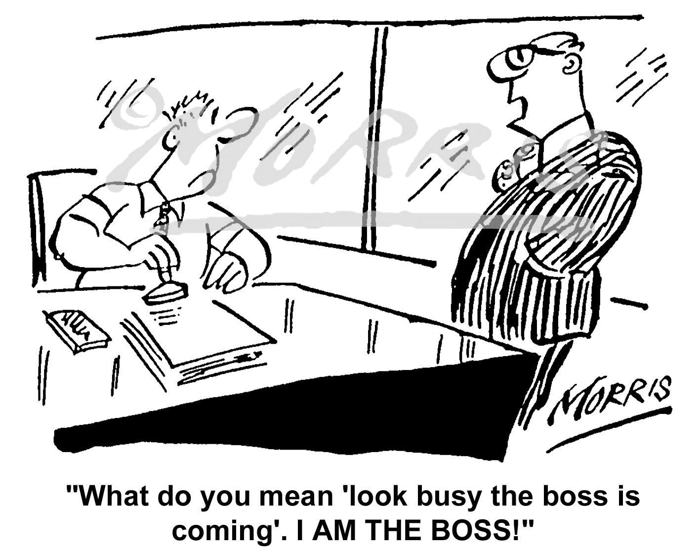 Manager employee comic cartoon – Ref: 4617bw