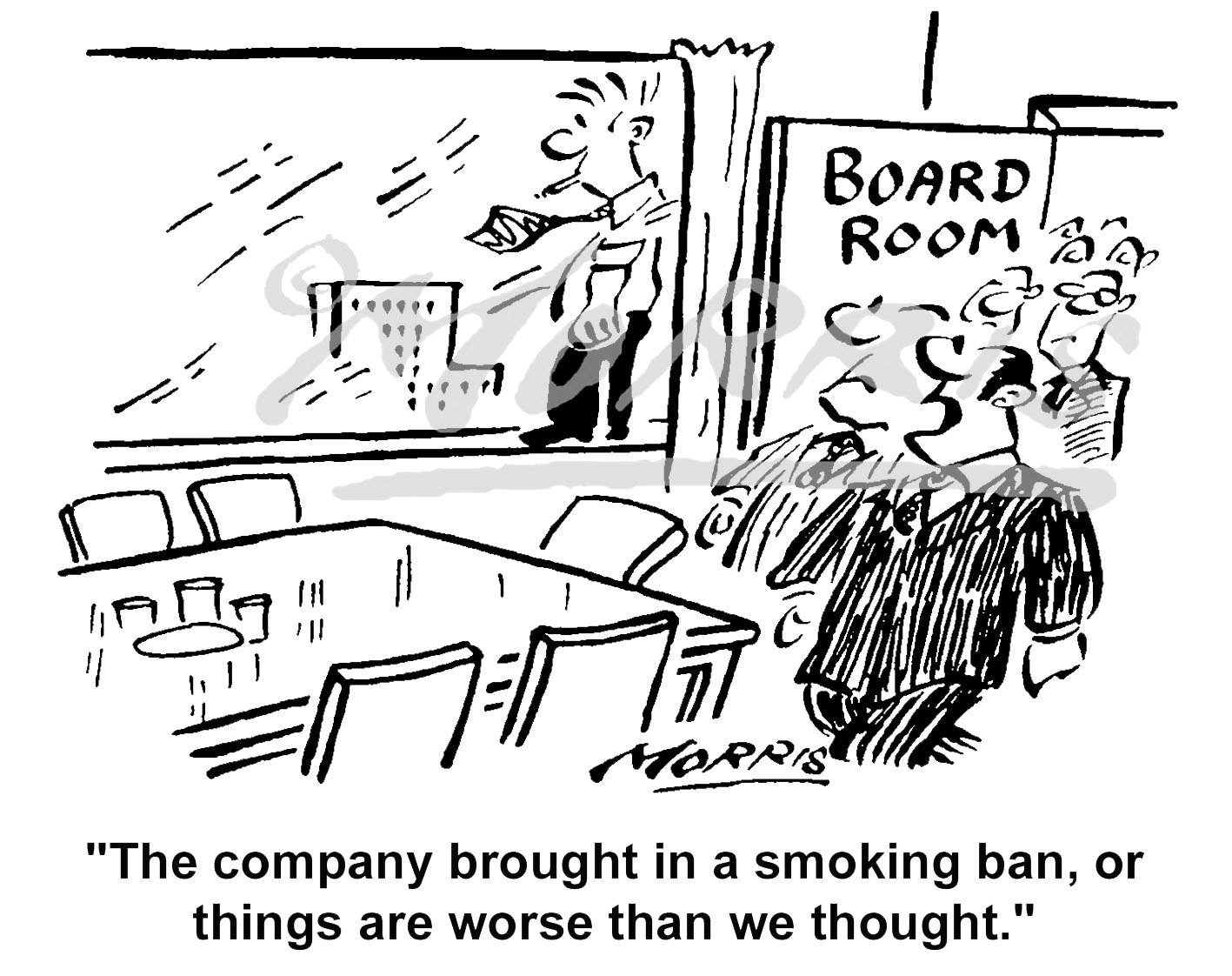 Boardroom smoking cartoon Ref: 4647bw