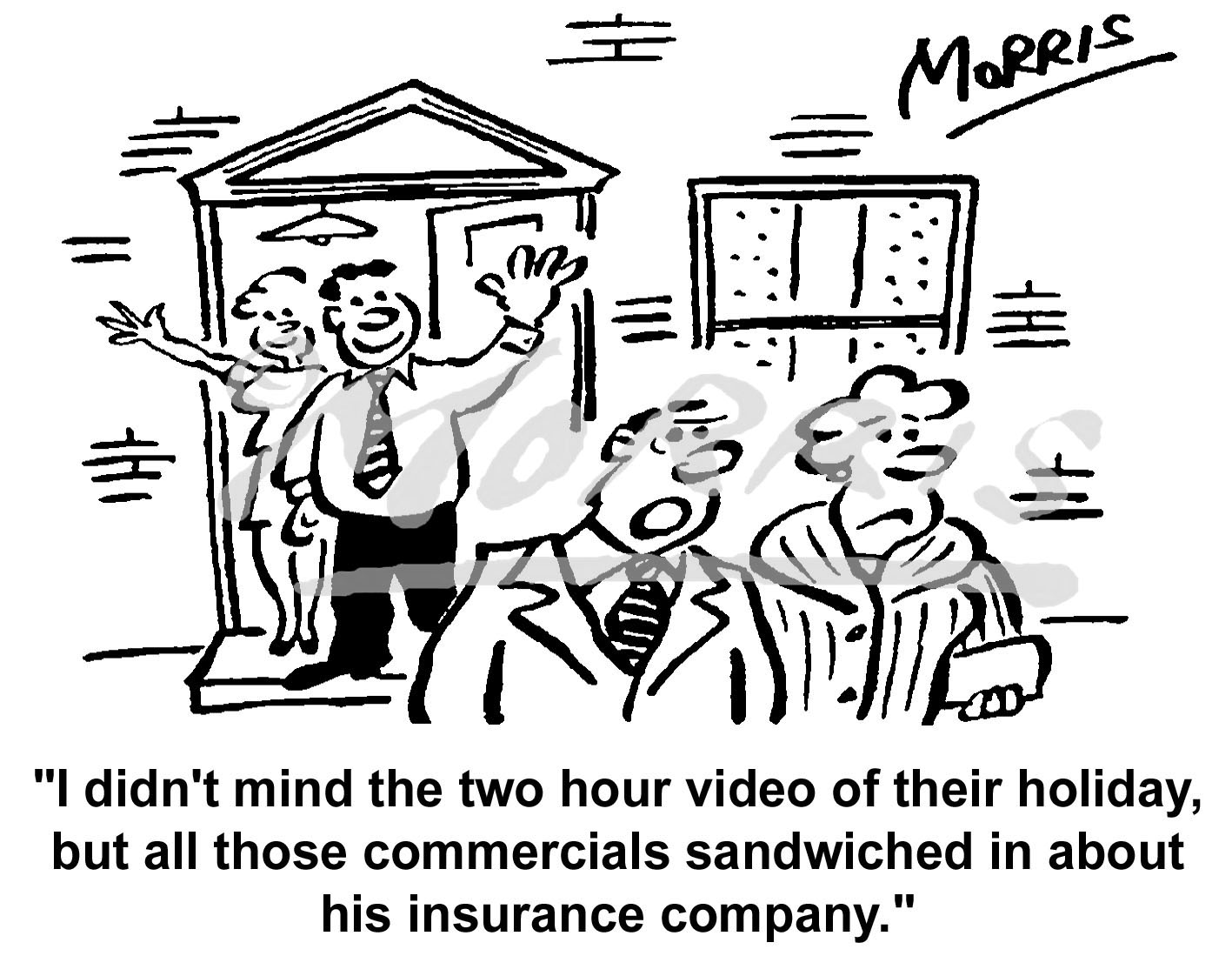 Insurance company business cartoon Ref: 4680bw