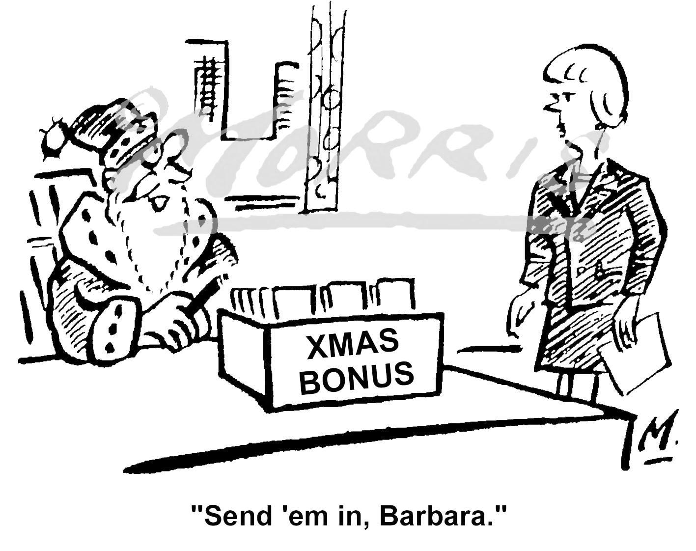 Christmas bonus comic cartoon – Ref: 4700bw