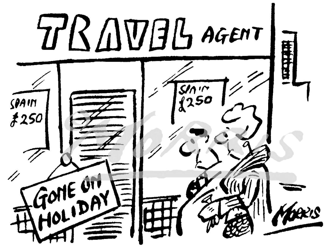 Travel Agent cartoon, Holiday cartoon, Vacation comic – Ref: 4709bw