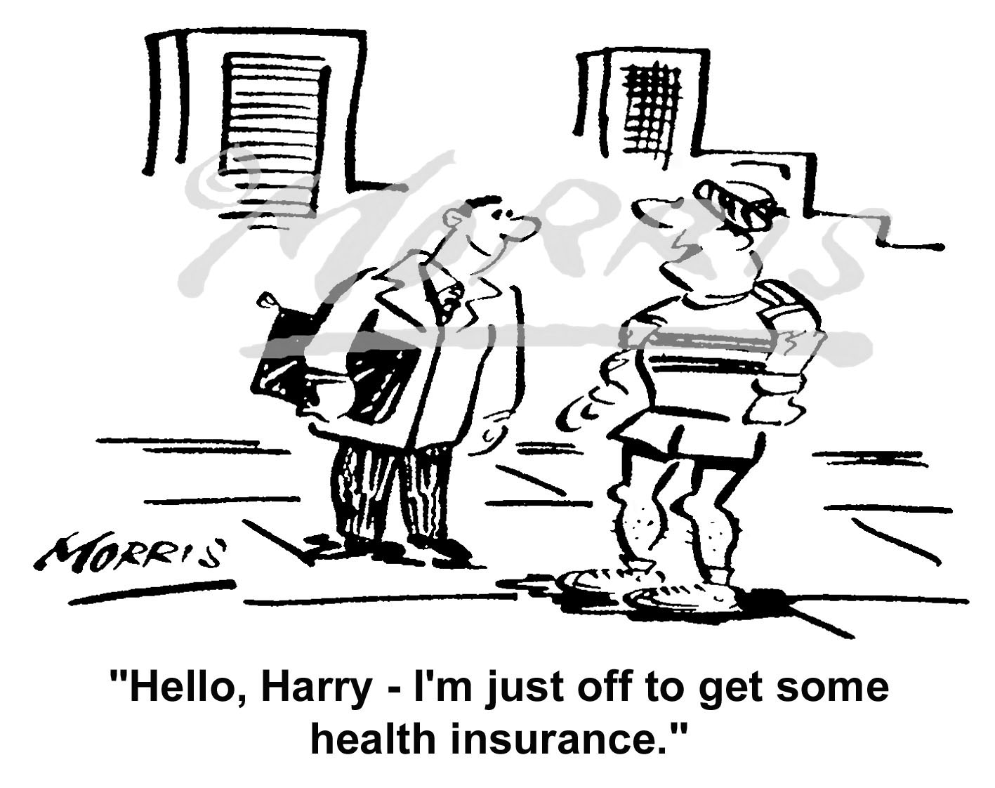 Health insurance cartoon – Ref: 4852bw