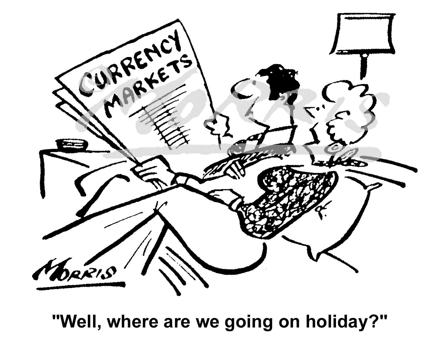 Currency markets business cartoon – Ref: 4898bw