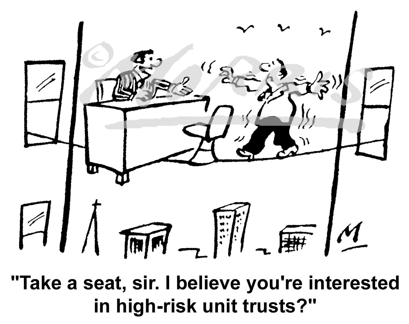 High risk investment comic cartoon – Ref: 4959bw