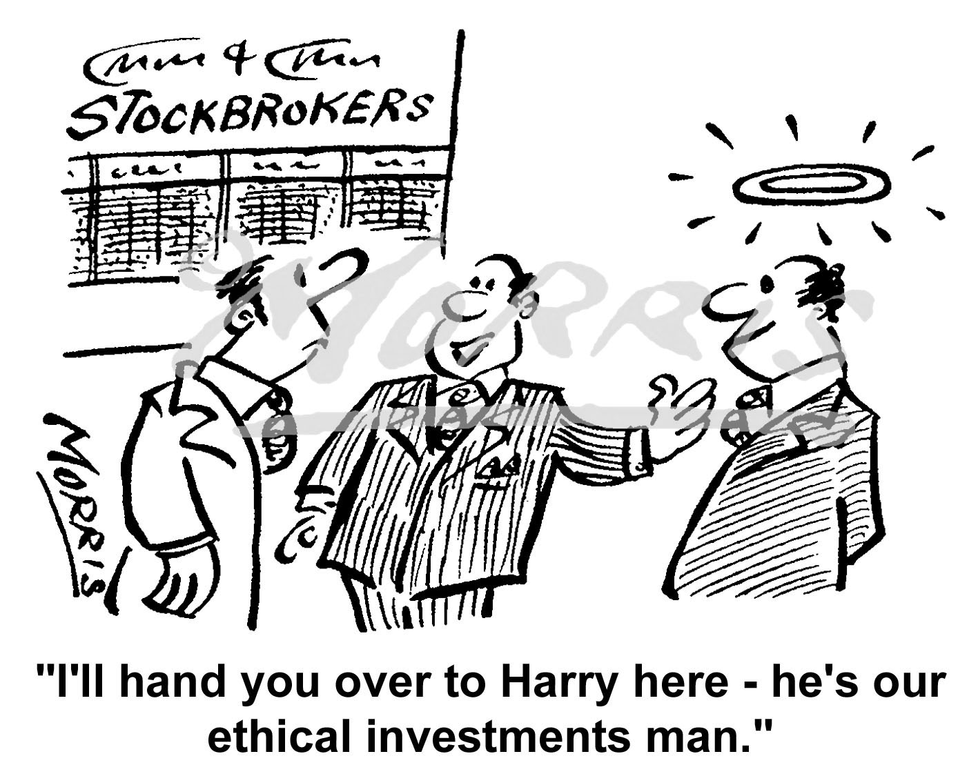 Ethical investment cartoon – Ref: 4973bw