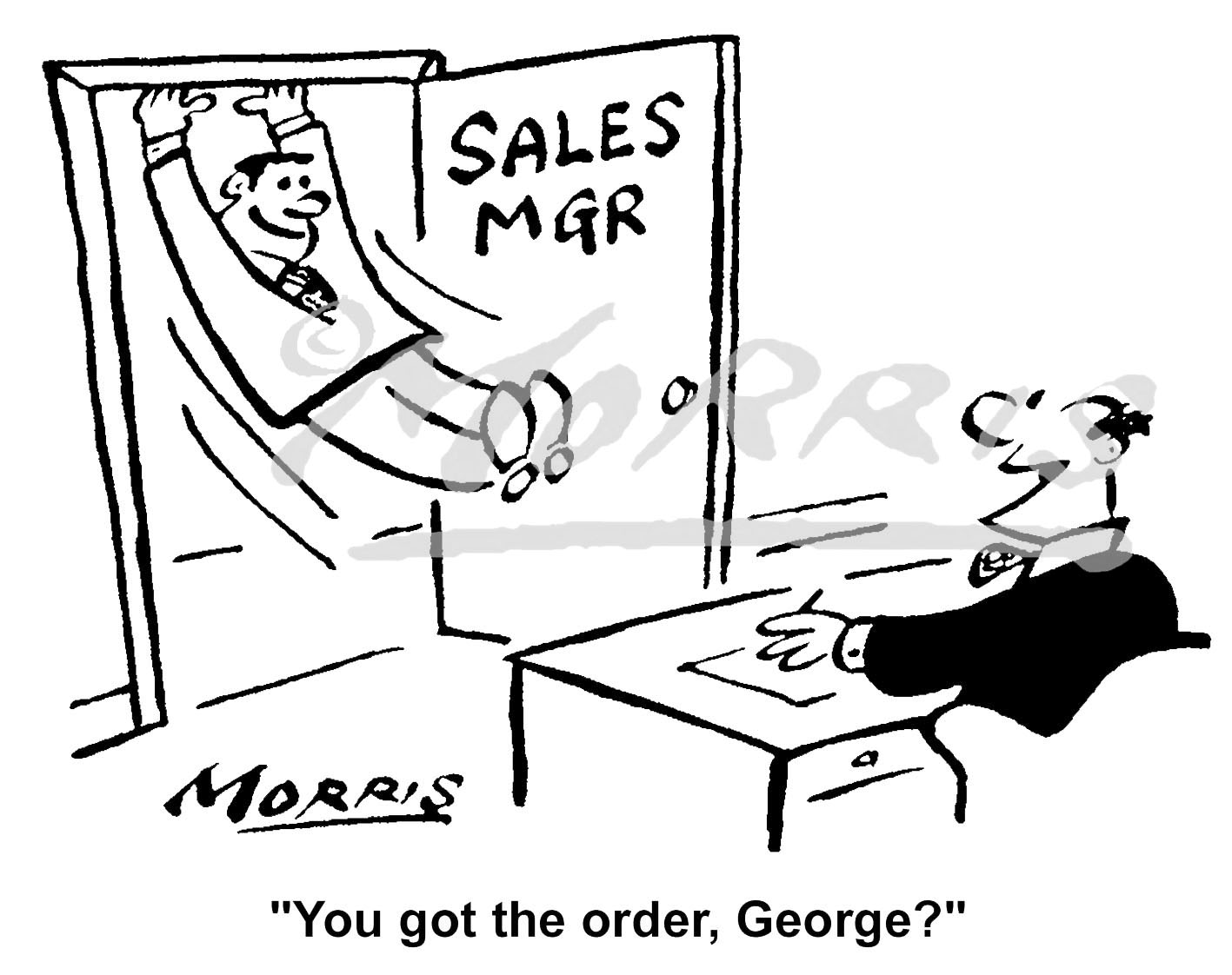 Sales order comic cartoon – Ref: 5015bw