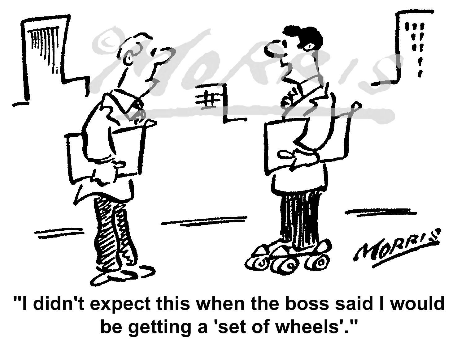 Company car comic cartoon – Ref: 5017bw