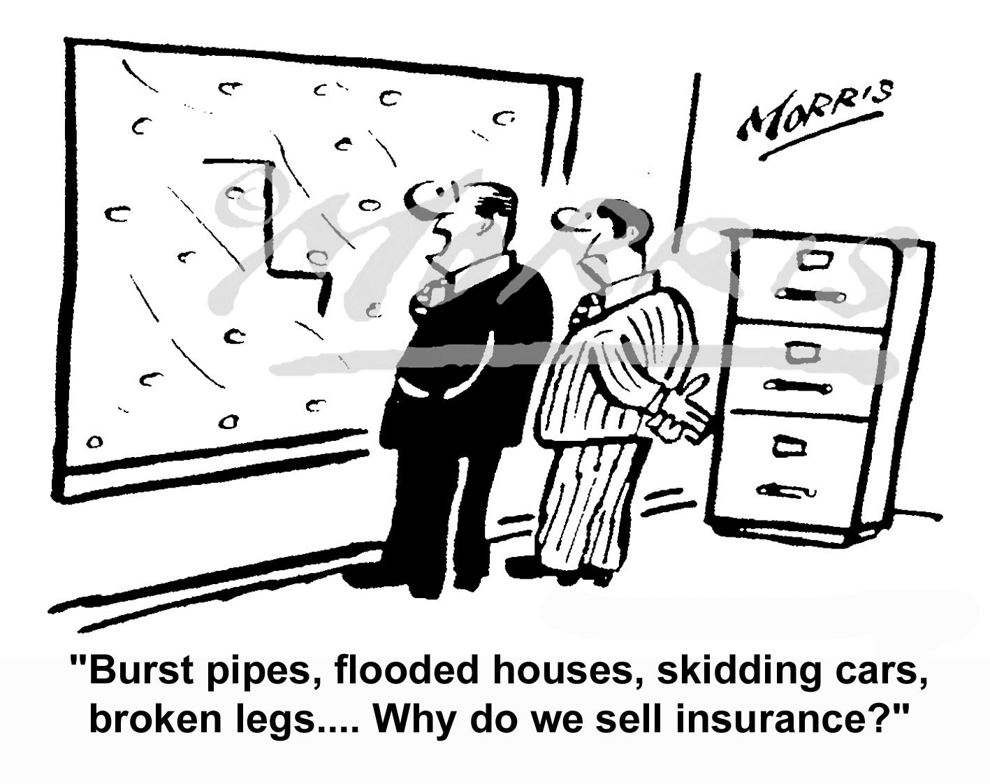 Winter insurance cartoon – Ref: 5034bw