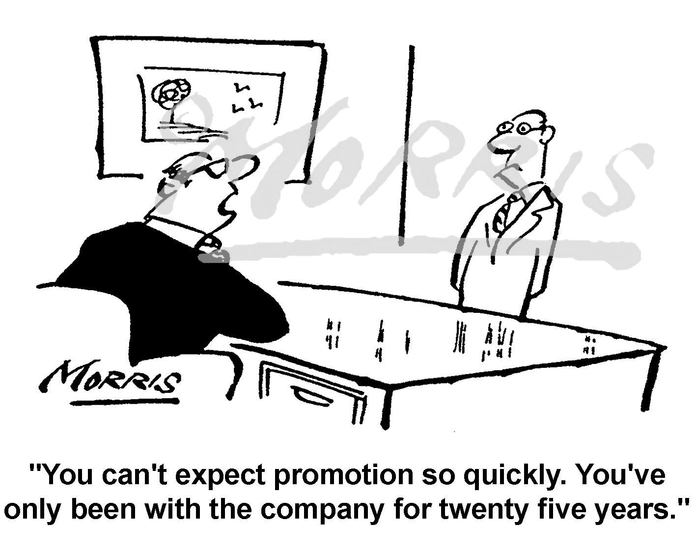 Employee company job promotion cartoon – Ref: 5035bw