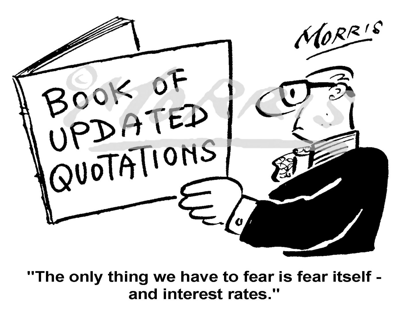 Interest rates cartoon – Ref: 5038bw