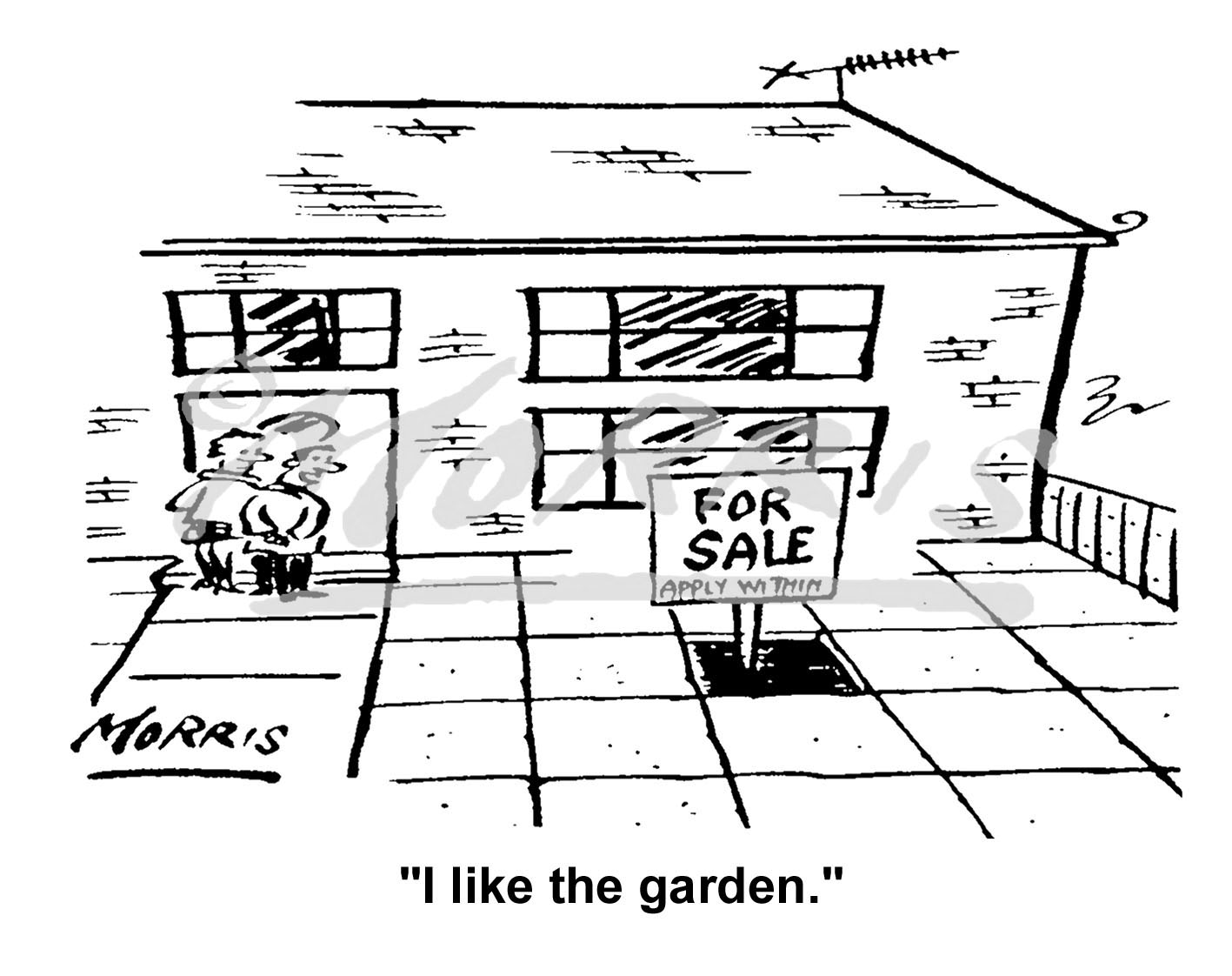 House property viewing comic cartoon – Ref: 5051bw