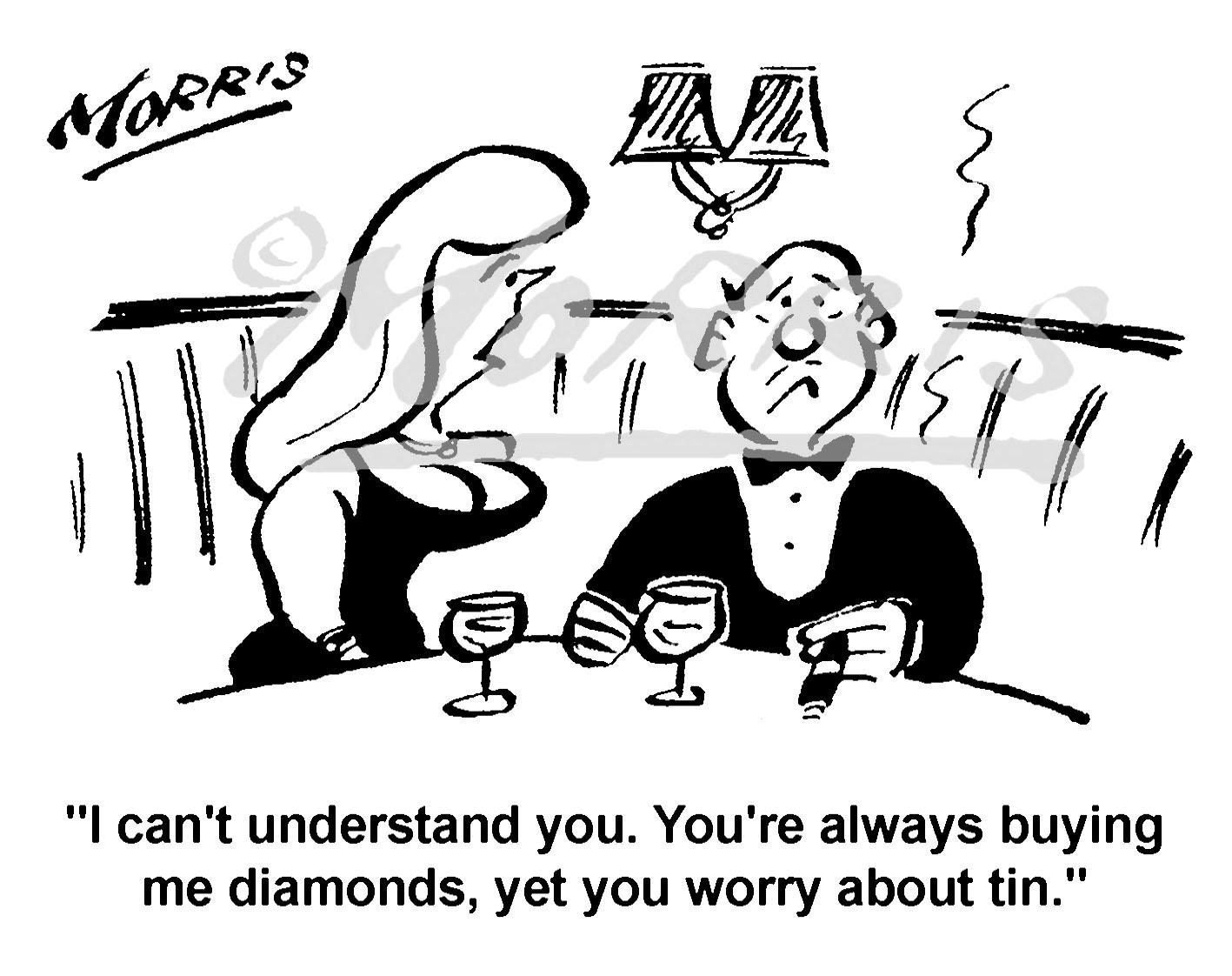 Stock market buying cartoon – Ref: 5064bw