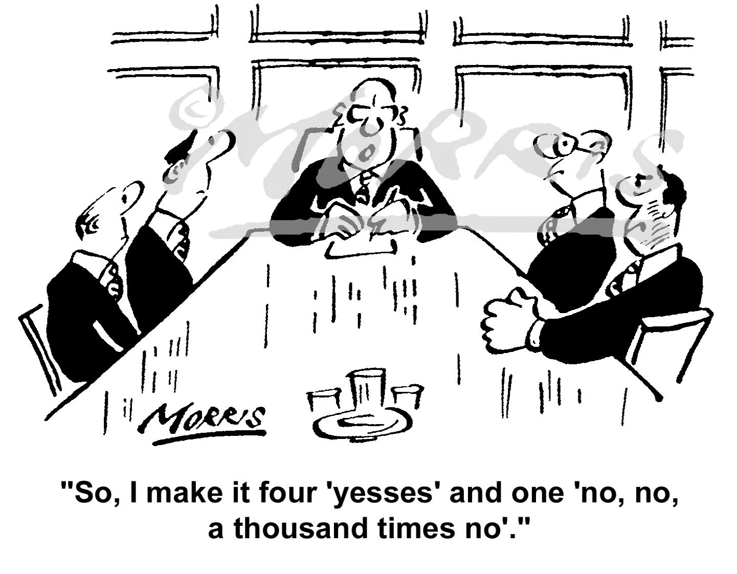 Boardroom meeting cartoon – Ref: 5069bw