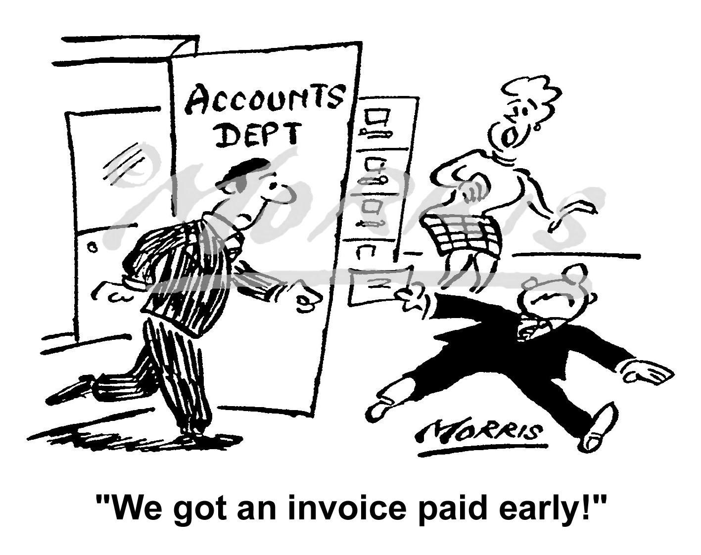 Company Accounts invoice cartoon – Ref: 5084bw
