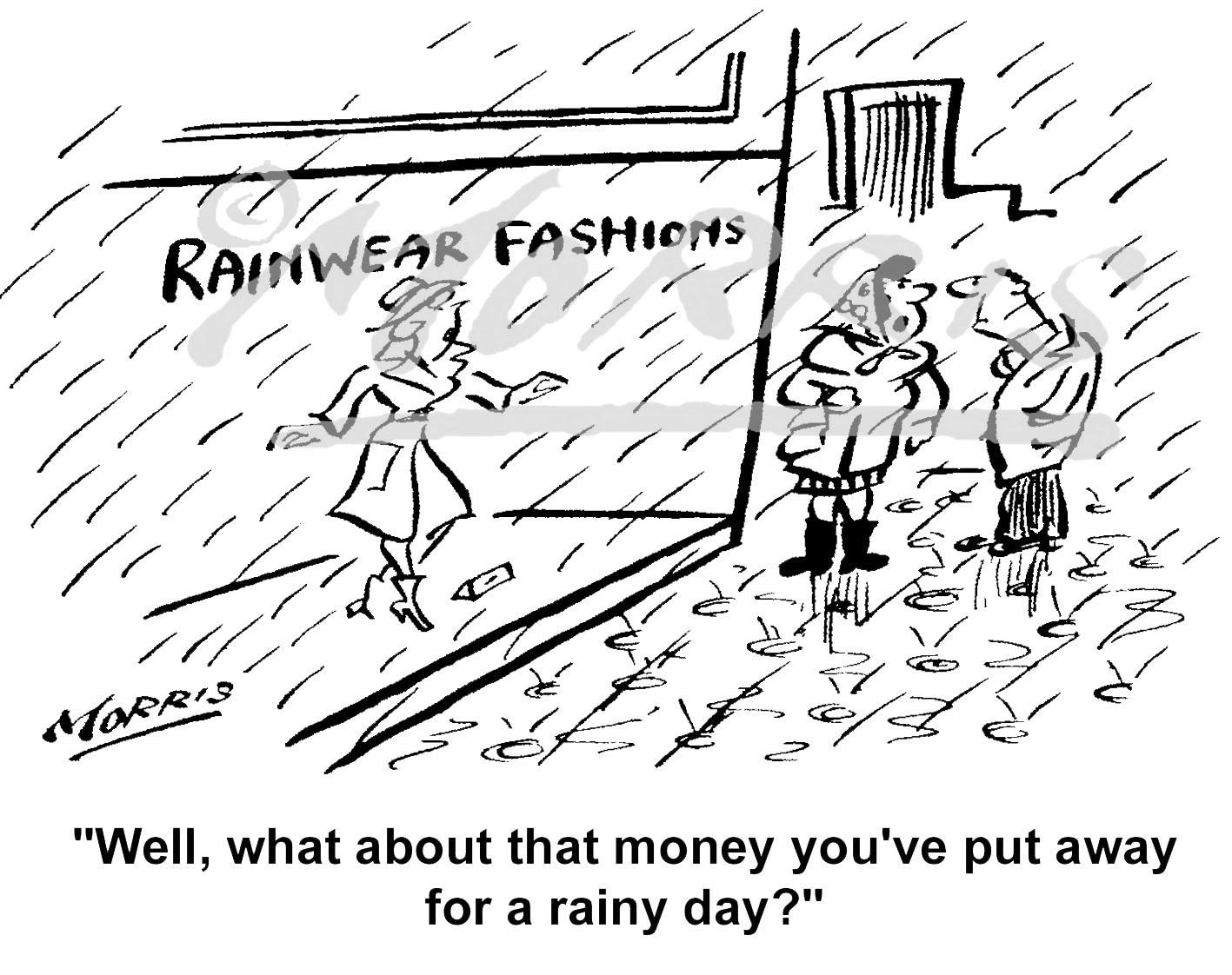 Money cartoon – Ref: 5087bw