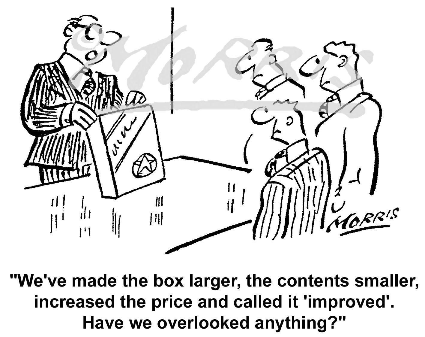 Sales marketing cartoon – Ref: 5120bw