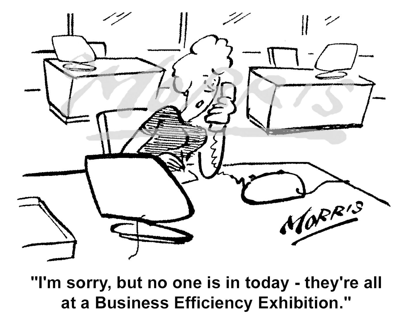 Business exhibition cartoon – Ref: 5129bw