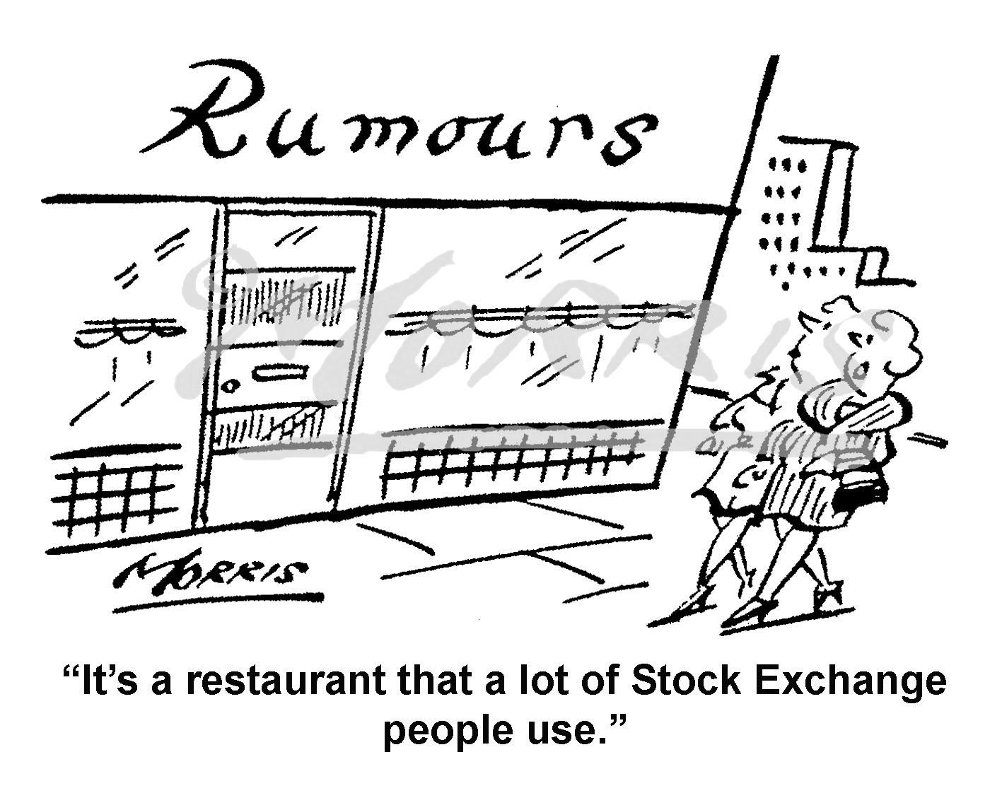 Stock Exchange cartoon – Ref: 5130bw