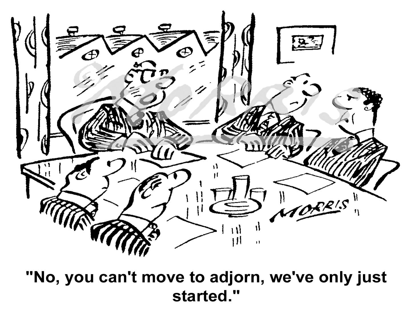 Boardroom meeting cartoon – Ref: 5144bw
