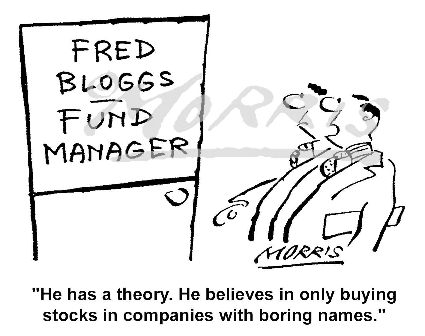 Stocks fund manager cartoon – Ref: 5145bw