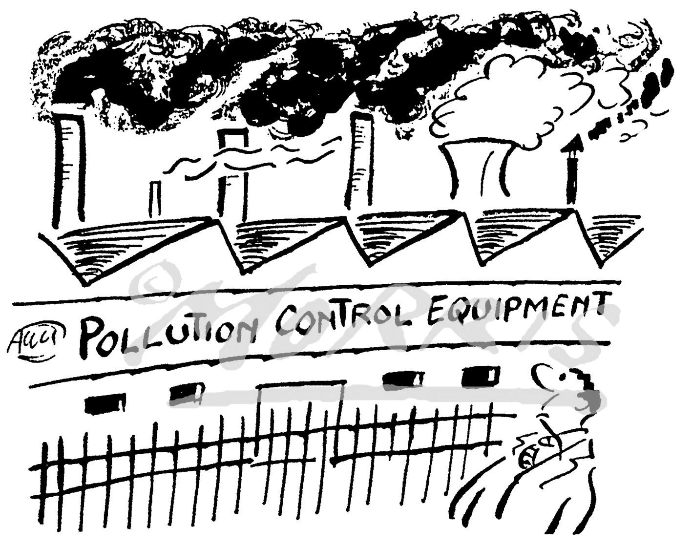 Environment cartoon, Clean Air cartoon, Pollution comic cartoon – Ref: 5146bw