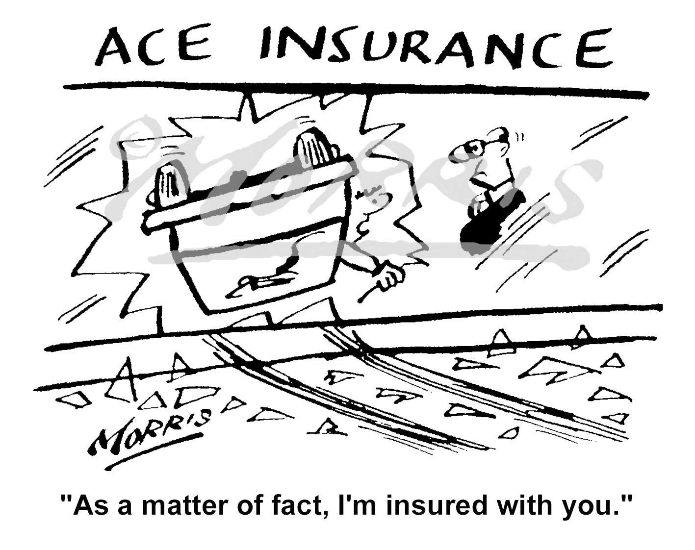 Insurance cartoon – Ref: 5151bw