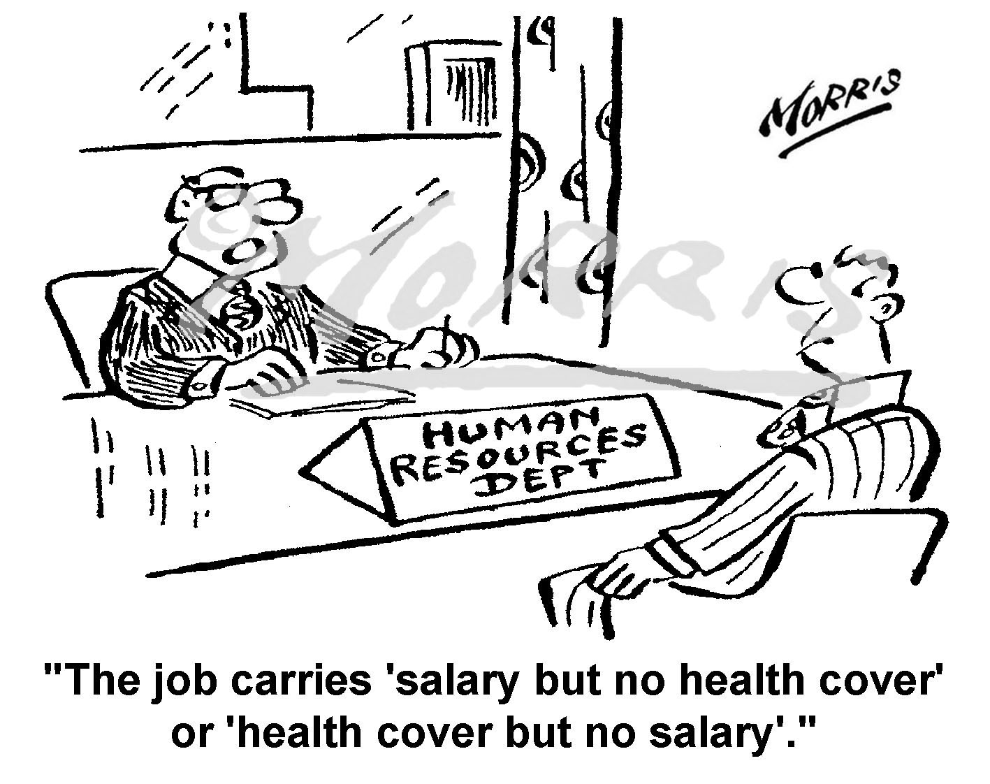 Human Resource business cartoon – Ref: 5191bw