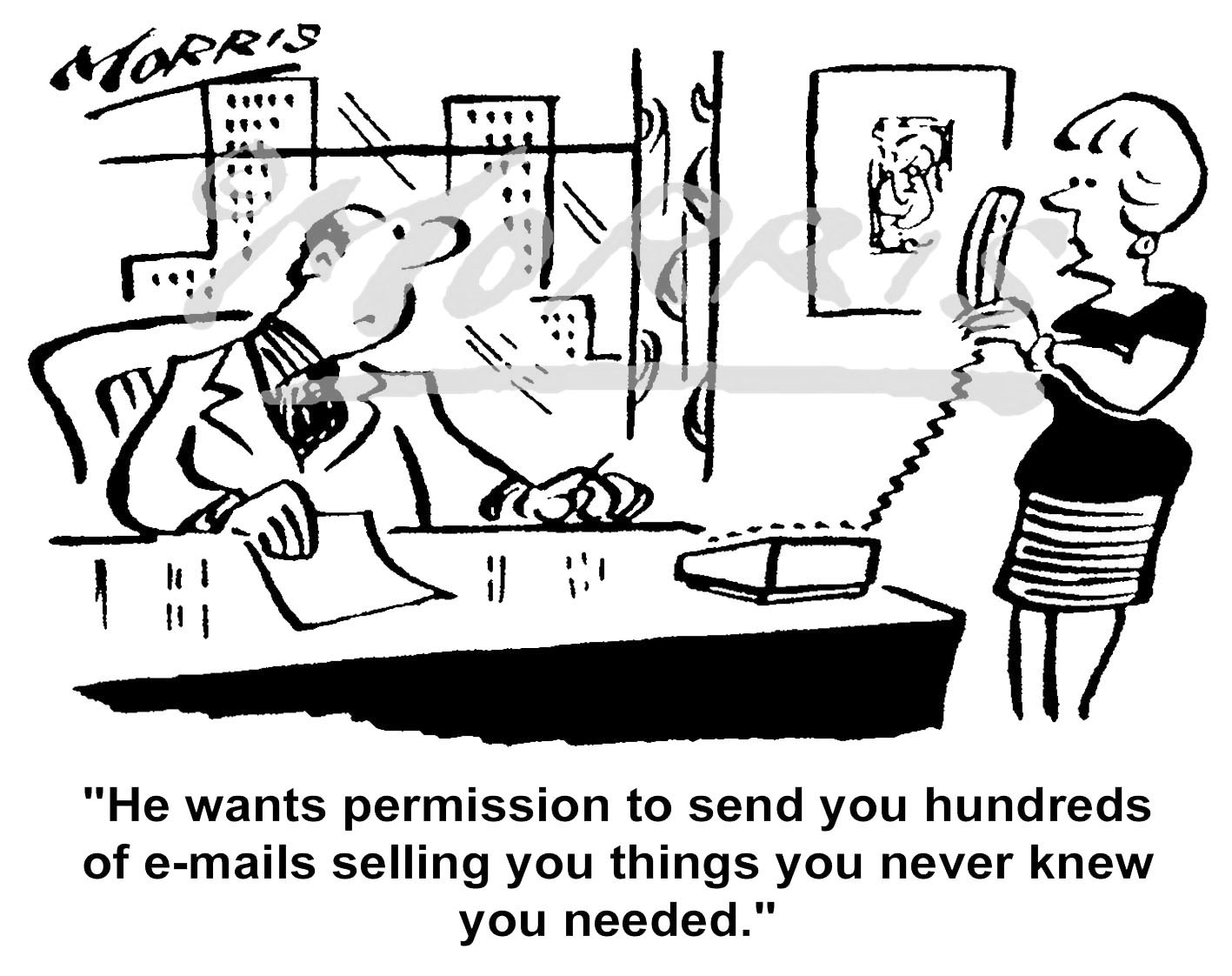 IT email comic cartoon – Ref: 5287bw