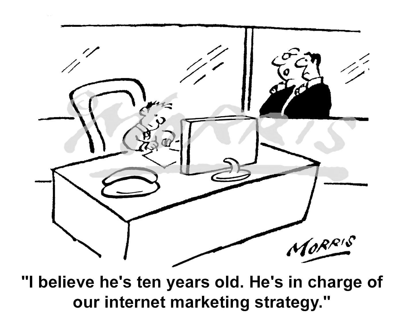 Internet Marketing Strategy cartoon – Ref: 5301bw