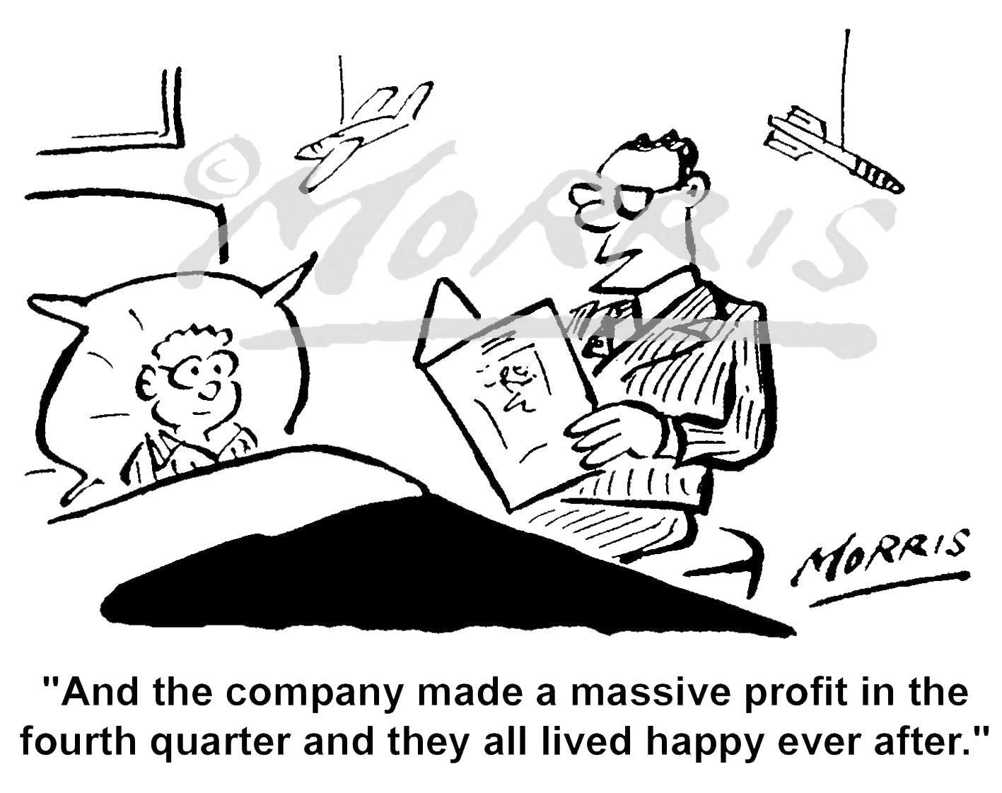 Company profits cartoon, Accountant cartoon, Auditor cartoon and Tax cartoons – Ref: 5304bw