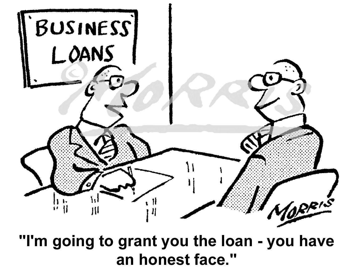 Business loans comic cartoon – Ref: 5327bw