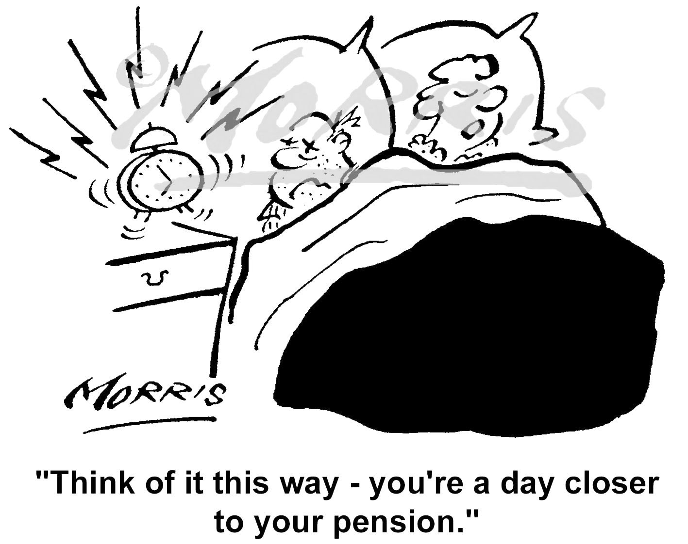 Pension business comic cartoon – Ref: 5344bw