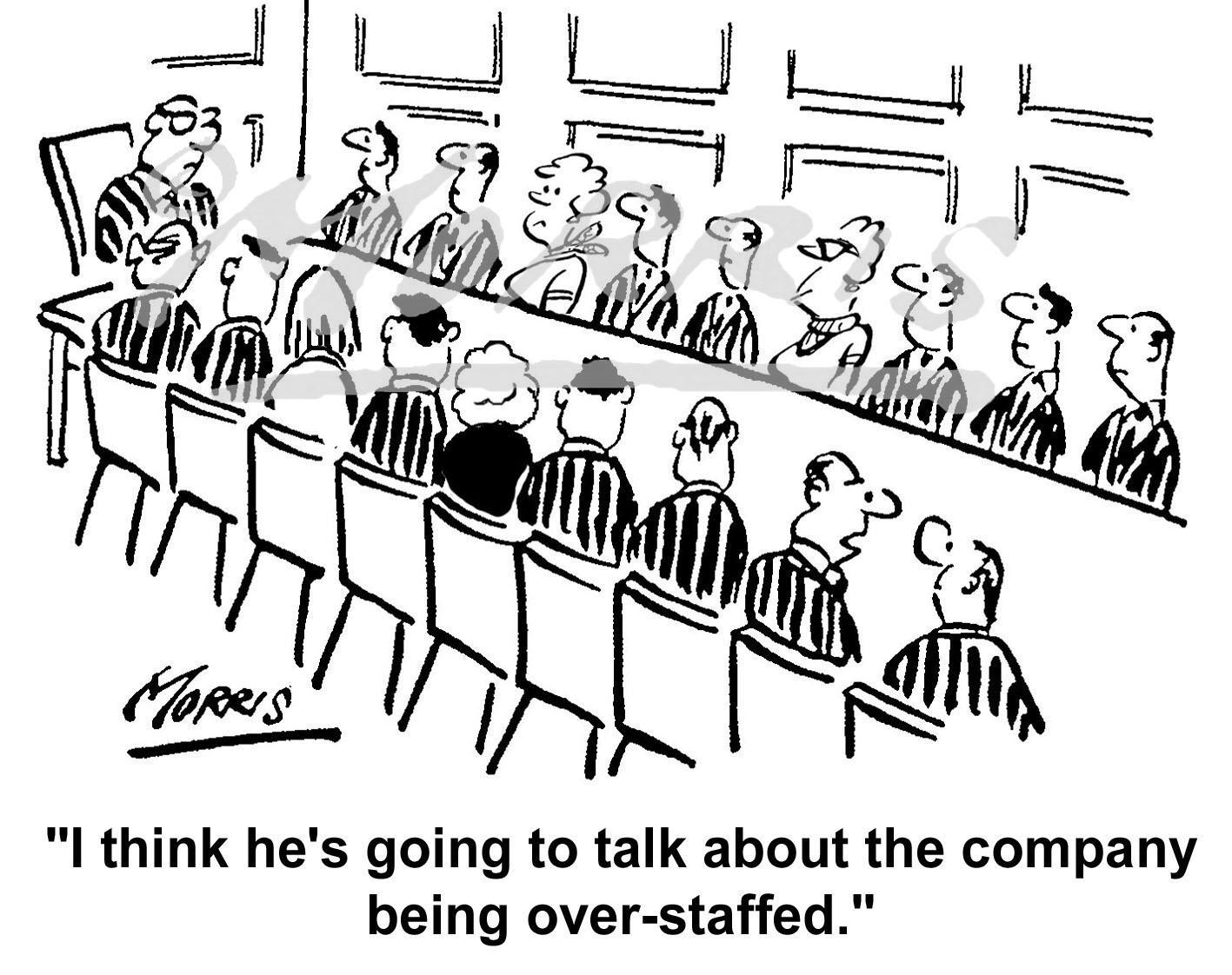 Company over staffed comic cartoon – Ref: 5380bw