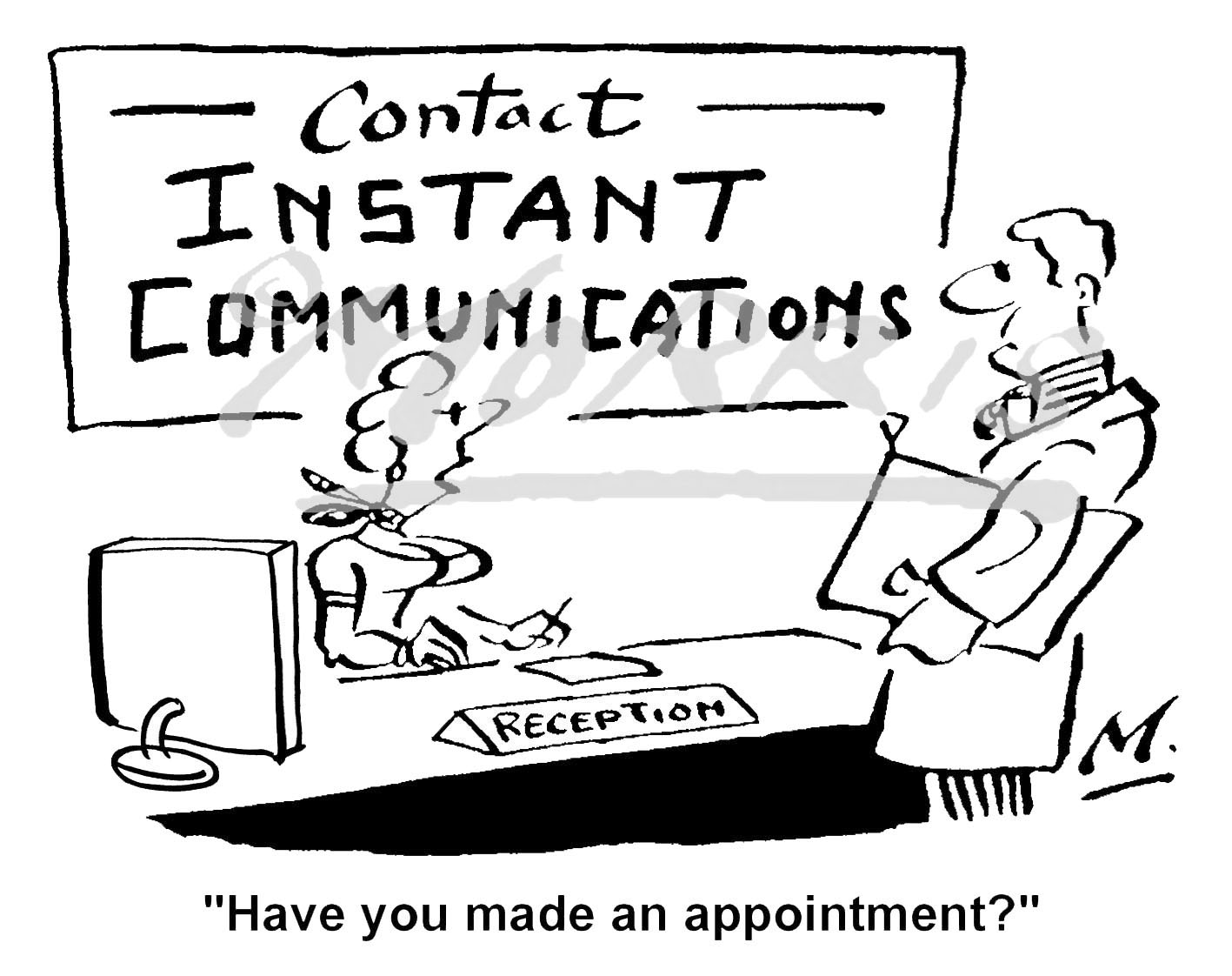 Customer cartoon, Communication cartoon