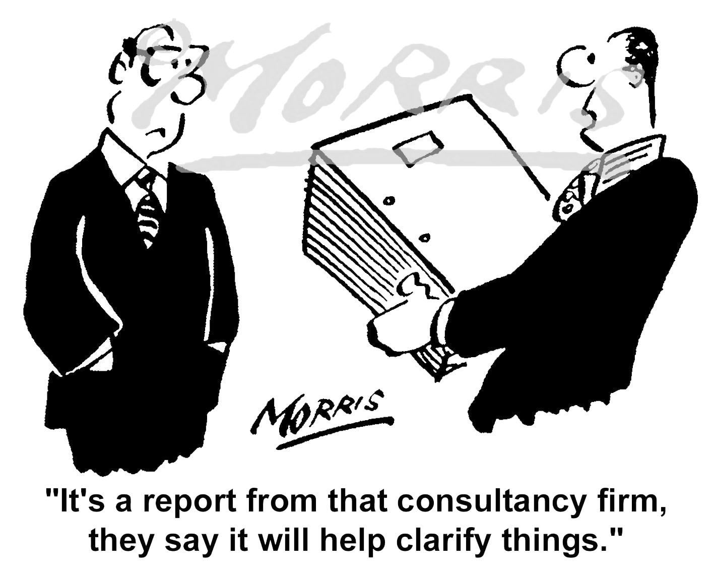 Consultancy report business comic cartoon – Ref: – 5442bw