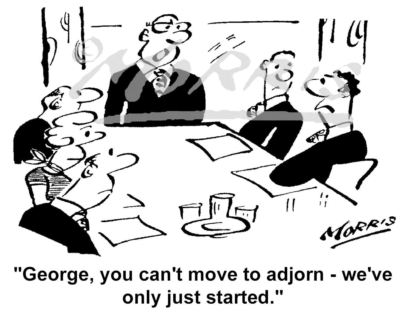 Boardroom meeting cartoon, Chairman cartoon, CEO cartoon, Managing Director cartoon – Ref: 5538bw