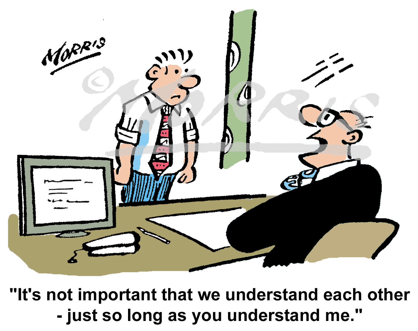 Office manager cartoon Ref: 5732col