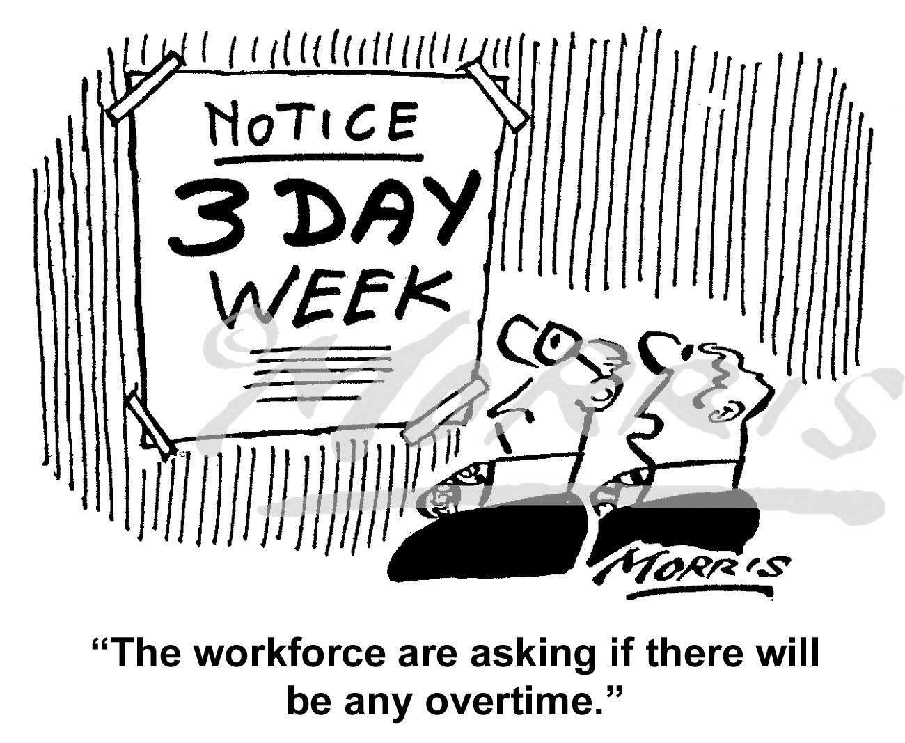 Workforce cartoon, Work cartoon, Overtime cartoon – Ref: 6163bw