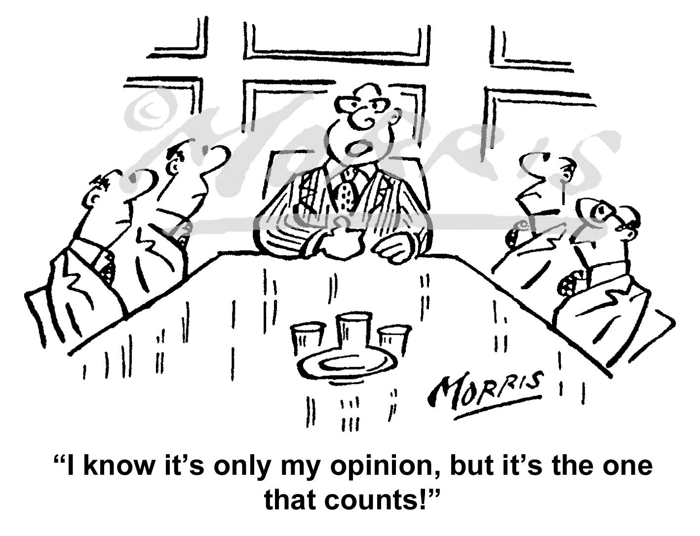 Chairman, Manager, Boardroom business cartoon – Ref: 6165bw