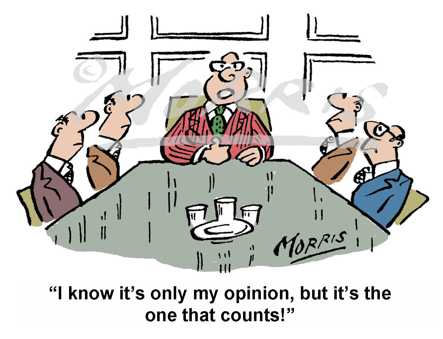 Boardroom, Chairman, Manager cartoon – Ref: 6165col