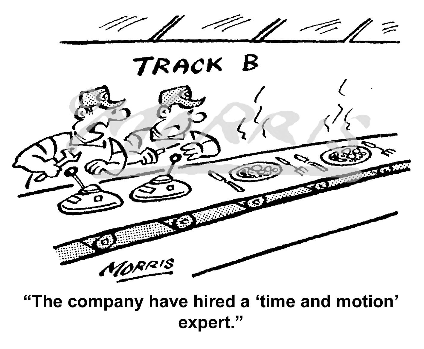 Time and Motion cartoon