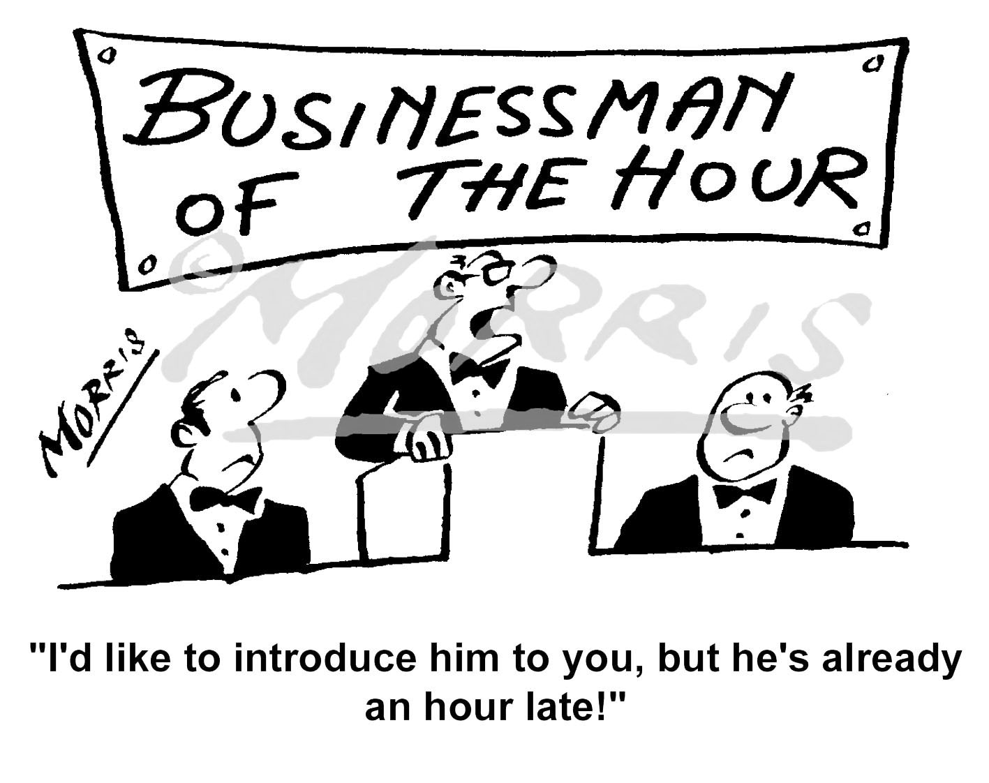 Businessman of the year cartoon – Ref: 6202bw