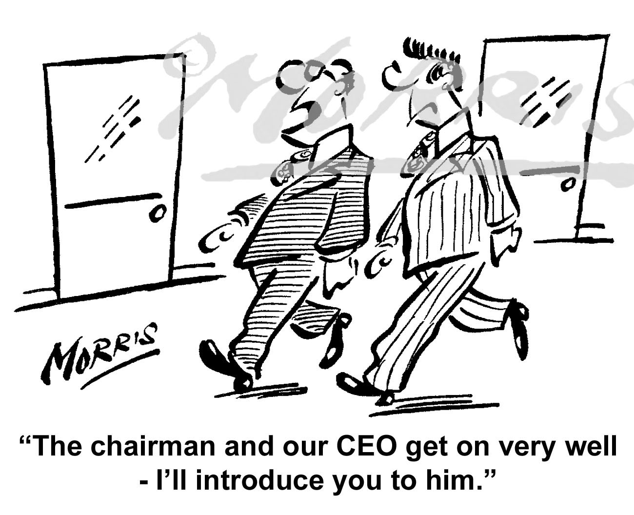 President, Chairman and Chief Executive Officer business cartoon – Ref: 6203bw
