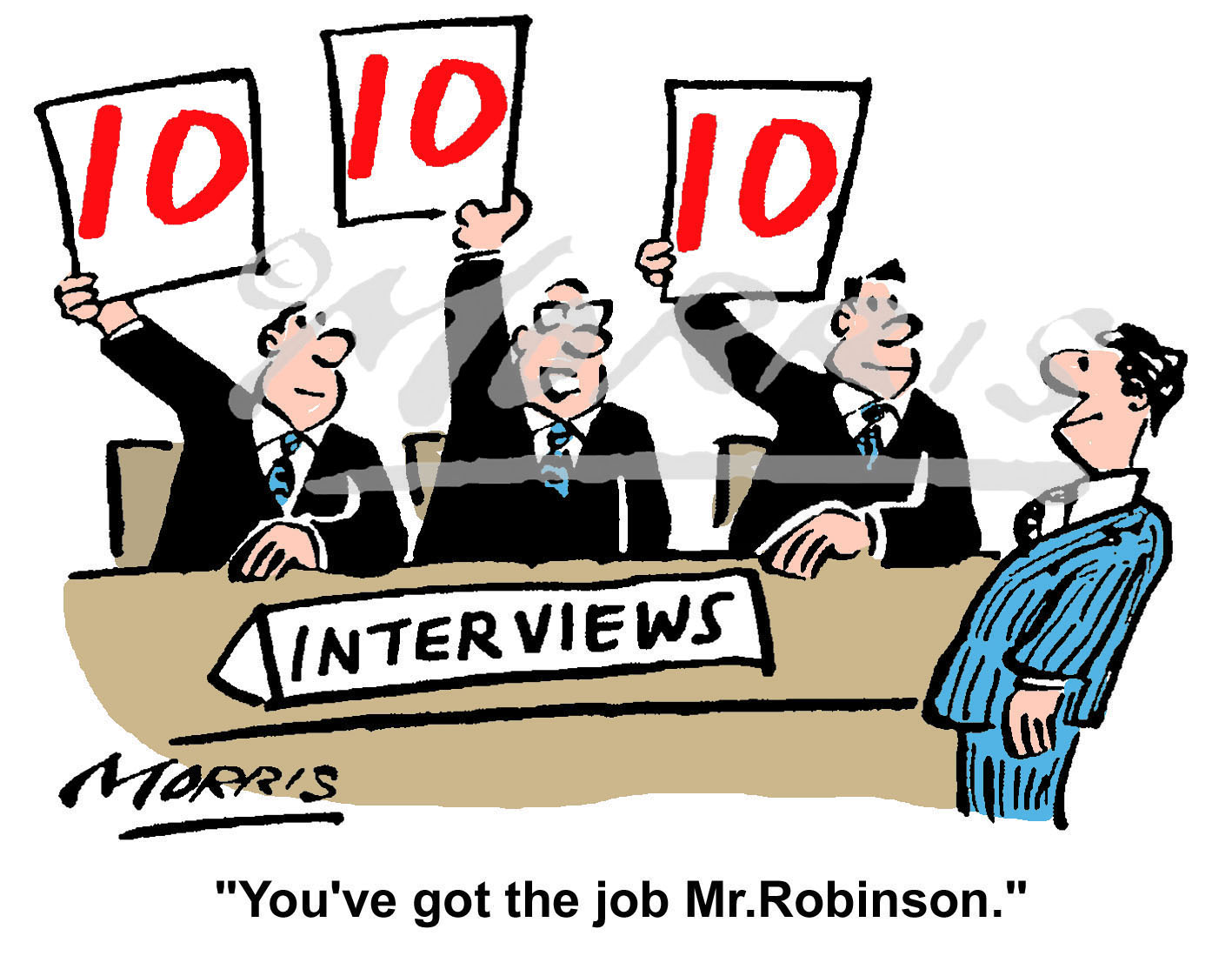 Recruitment, Hiring and Interview business cartoon – Ref: 6221col